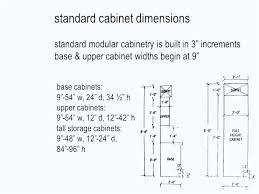 kitchen cabinets standard sizes