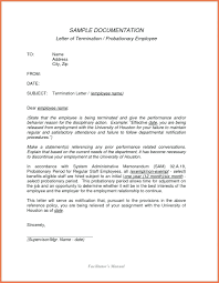 Template Letter Of Termination Of Employment Template
