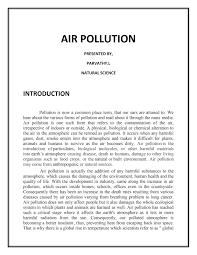 Essay Environment Pollution A Essay On Environmental Pollution Mistyhamel