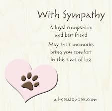 Sympathy Card Pet Loss A Loyal Companion And Best Friend Pet Sympathy Cards Sympathy
