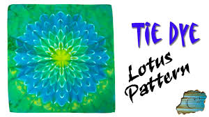 Tie Dye Patterns Simple How To Tie Dye Lotus Pattern YouTube