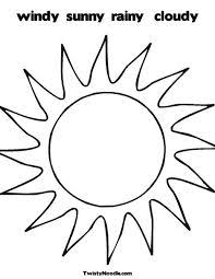 Small Picture Sun with clouds coloring page 1s Suns Moons Stars Silhouettes