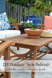 Restore Outdoor Teak Furniture Tutorial H20Bungalow