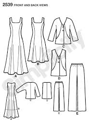 Belle Blue Dress Pattern Simple Simplicity 48 Misses Women's Sportwear
