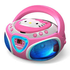 Download Main Hi-Res Image CD Boombox with AM/FM Stereo Radio and LED Light Show \u2013 SparkleBee