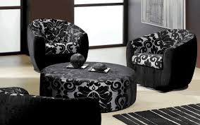 Patterned Living Room Chairs Delightful Contemporary Living Room With Patterned Furniture And