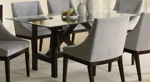 dining room light brown furnished wooden dining chair black plywood leather pad dining chairs 7 v