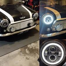 Mini Cooper Racing Lights New Led Headlights With Daylight Halo Driving Lights Mini