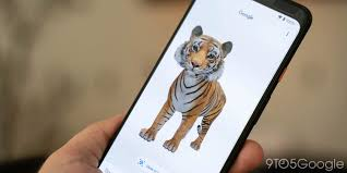 Tiger view in 3d google chrome