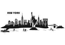 wall decal new york skyline 2 big apple at its best