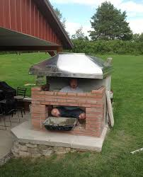 making fireplace for outside making culinary smoker