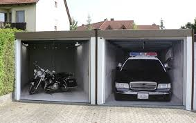 style your garage creative 3d garage doors stickers