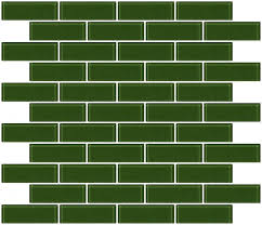 1x3 Inch Sage Green Glass Subway Tile