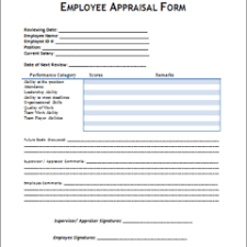 Creative Performance Review And Appraisal Template Word Download