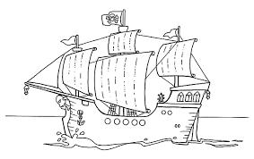 Disegni Da Colorare Per Bambini Galeone Pirati Wallpapers