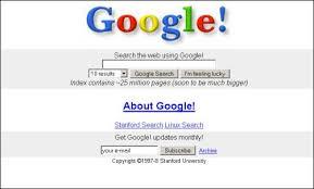 google home page design. original google homepage in 1997 home page design e