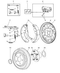2006 chrysler pt cruiser brakes rear drum diagram i2103303