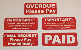 Overdue Account Accounts Stickers Overdue Final Request Payment Required Paid