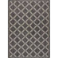 country side charcoal 5 ft x 7 ft indoor outdoor area rug