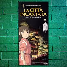Original Movie Poster Locandina Originale La Città Incantata - Miyazaki  33x70 CM