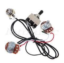 electric guitar wiring harness kit 3 way toggle switch 1 volume 1 image is loading electric guitar wiring harness kit 3 way toggle