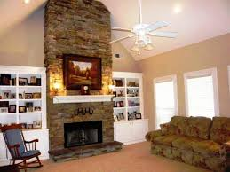 living room with stone fireplace. image of: fireplace ideas stacked stone living room with o
