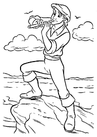 Small Picture Prince Eric Flute Little Mermaid Coloring Pages Pinterest