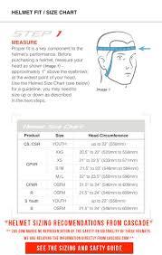 Helmet Sizing Charts Flow Charts
