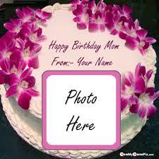 happy birthday cake for mother photo