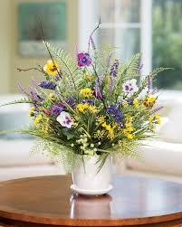 Pansy \u0026 Wildflower\u003cbr\u003eSilk Flower Centerpiece ...  OfficeScapesDirect
