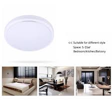 18w round led ceiling light 3000 lumens flush mount fixture for living room usa