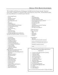 Fabulous List Of Skills For Resume Skill Proyectoportal Com