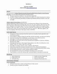 Test Engineer Resume Objective Resume Objective Examples Electrical Engineering New Image