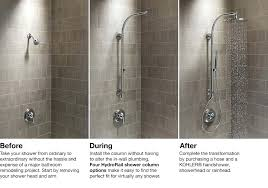 beautiful kohler shower head and hand shower combo large size of shower heads with handheld attachment brushed parts head combo kohler enlighten shower head