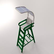 tennis umpire chair 3d model obj 3ds fbx blend dae mtl 2