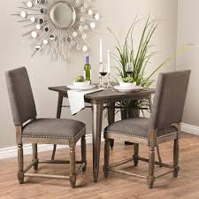 gray upholstered reclaimed wood dining chair