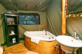 luxury tent accommodation at chandelier game lodge