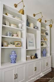 Bookshelf Lighting Sita Montgomery Interiors My Home Office Makeover Reveal Sita