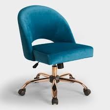 office world desks. Blue Velvet Cosmo Upholstered Office Chair World Market For Prepare 19 Desks
