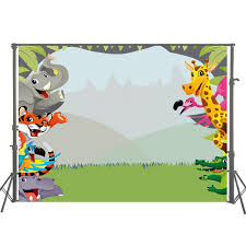 baby safari background. Unique Baby Photography Backdrops Jungle Safari Themed Animals Baby Birthday Banner  Photo Background Natural Scenery Backdrop W On D
