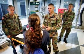 army lowers standards tops recruit goal us news military  image army recruiters