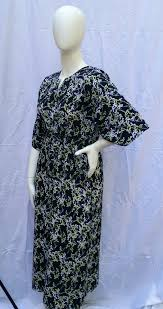 Muumuu Pattern Best Mari Muumuu Dark With Floral Pattern Bosa Modest Wear