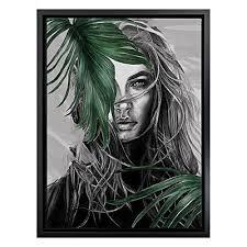 breathless framed canvas print white frame