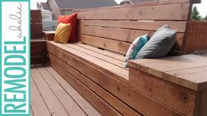 how to build space saving deck benches for a small deck