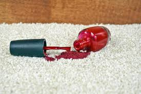 Getting nail polish out of carpet Dried Close Up Of Bright Red Nail Polish On Light Colored Carpet Momtastic How To Get Fingernail Polish Out Of Carpet