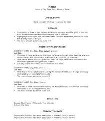 Basic Sample Resume Resume Samples Free Sample Chronological Resume ...