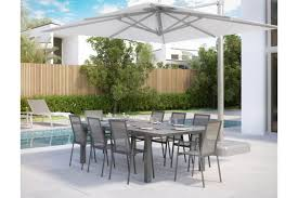 extendable outdoor dining sets. vitale outdoor extendable modern dining table gray sets