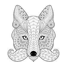 tribal coloring pages. Unique Tribal Hand Drawn Tribal Fox Face For Adult Anti Stress Coloring Pages Ethnic  Tshirt On Tribal Coloring Pages Y