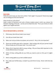 the worst essay of your life a unique approach to assessing the guide to this activity by clicking on the image below