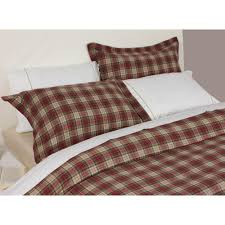 design port winton red and beige tartan plaid brushed cotton duvet cover
